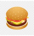 double burger icon isometric style vector image