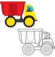 Dump truck toy vector | Price: 1 Credit (USD $1)