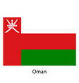 flag of the country oman on white background vector image vector image