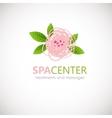 Floral symbol of spa Logo Icon vector image