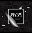 geometric abstract silver black background vector image vector image
