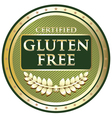 Gluten Free Green Label vector image