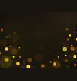golden bokeh shiny defocused gold bokeh lights vector image vector image
