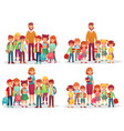 group school kids and teacher isolated vector image