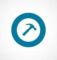 Hammer bold blue border circle icon vector image