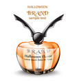 happy halloween perfume or potion realistic vector image vector image