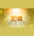 happy new 2018 year template vector image vector image