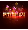happy new year holiday background with flying vector image