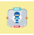 hero character option game assets element vector image vector image