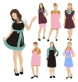 Housewife woman silhouette set vector image