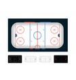 ice hockey arena hockey field set vector image vector image