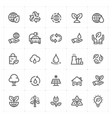icon set - environment vector image