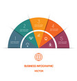 infographic color semicircle template with text vector image vector image
