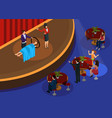 isometric magic performance template vector image vector image