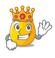 king golden egg with cartoon shape reflection vector image