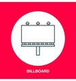 line icon of billboard Advertising flat vector image vector image