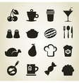 Meal icons9 vector image vector image