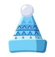 Mens winter hat icon cartoon style vector image vector image