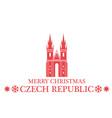 Merry Christmas Czech Republic vector image vector image