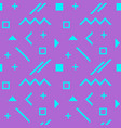 neon digital memphis seamless pattern vector image