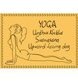 Outline girl in Upward Facing Dog yoga pose vector image vector image