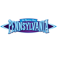 Pennsylvania The Keystone State vector image vector image