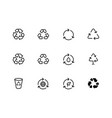 recycle symbol recycling icons editable vector image