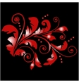 Red floral pattern with swirls vector image