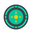 reticle target icon flat style vector image vector image