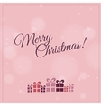 Retro Christmas card with christmas present - pink vector image vector image