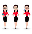 secretary in office style clothes vector image vector image