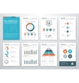 set of infographics business vector image