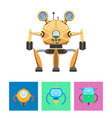 smart robots and intellect vector image