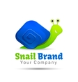 Speedy snail concept of achieving success vector image