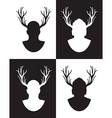 stag set vector image vector image
