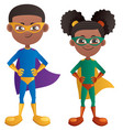 super kids black vector image vector image