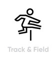 track and field sport activity icon vector image vector image