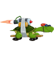 turtle on a skateboard vector image vector image