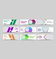 universal set horizontal white web banners vector image vector image