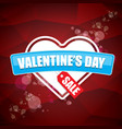 valentines day heart shape sale label or sticker vector image