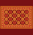 vintage persian floor carpet vector image