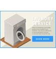 washing machine isometric flat vector image vector image