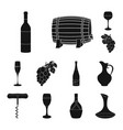 wine products black icons in set collection for vector image vector image