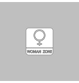 women gender computer symbol vector image vector image