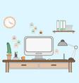 workspace for freelancer vector image