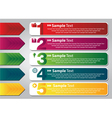 colorful speech templates for text vector image
