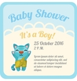 Postcard with baby boy and space for text vector image