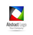 Abstract element shape design icon ribbons vector image