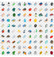 100 renovation icons set isometric 3d style vector image vector image
