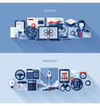 1Flat design elements of science and industry vector image vector image